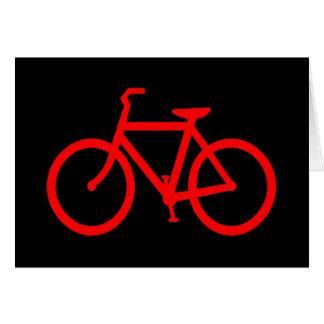 Cartão Bicicleta vermelha