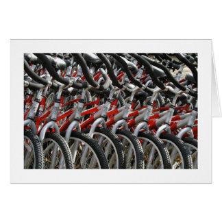 Cartão Bicicletas das bicicletas das bicicletas