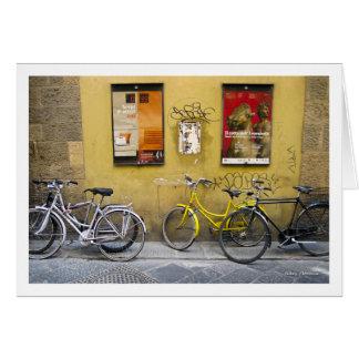 Cartão Bicicletas, Florença