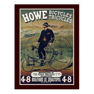 Cartão: Bicicletas & triciclos de Howe Cartão Postal