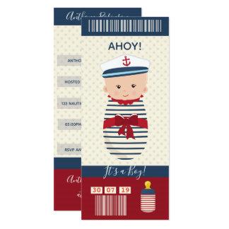 Cartão Bilhete náutico da passagem de embarque do chá de