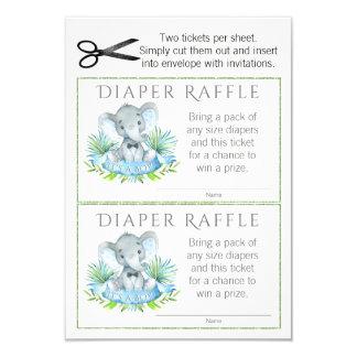 Cartão Bilhetes do Raffle da fralda do elefante