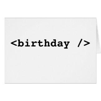 Cartão <birthday />