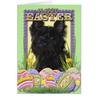 Cartão Biscoitos do ovo da páscoa - monte de pedras
