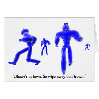 """Cartão """"Blooie na cidade, assim que limpa afastado esse"""