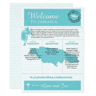 Cartão Boa vinda do fim de semana do casamento de Jamaica