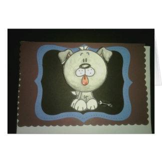Cartão Bobble o cachorrinho principal