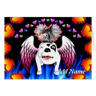 Cartão Bobo o cão de diabo faz o anjo