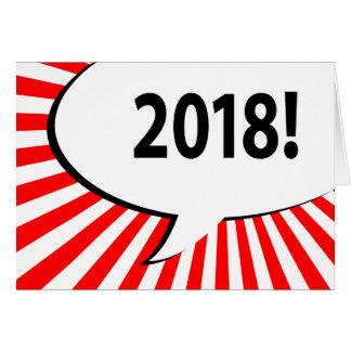 Cartão bolha 2018 cómica