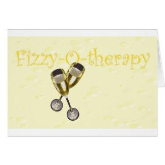 Cartão bolhas da Efervescente-o-terapia