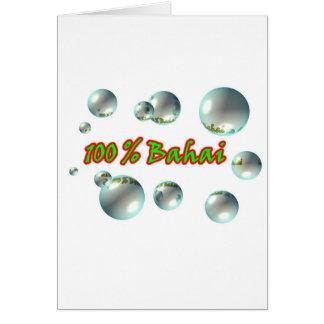 Cartão Bolhas de Bahai