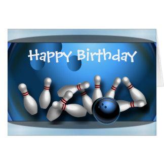 Cartão Boliche do feliz aniversario