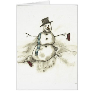 Cartão Boneco de neve de derretimento