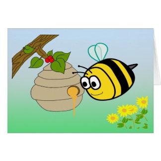 Cartão bonito da abelha ocupada