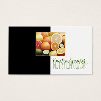 Cartão bonito da caixa saudável da fruta do