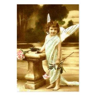 Cartão bonito do anjo da menina do vintage cartão de visita grande