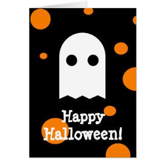 Cartão bonito do Dia das Bruxas do fantasma para