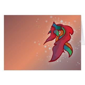 Cartão bonito do dragão | do fogo