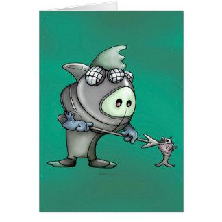 Cartão BONITO dos DESENHOS ANIMADOS do MERGULHADOR