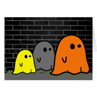 Cartão bonito dos fantasmas do Dia das Bruxas