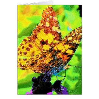 Cartão Borboleta em Salvia
