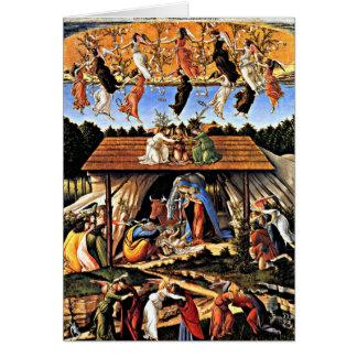 Cartão Botticelli - a natividade Mystical