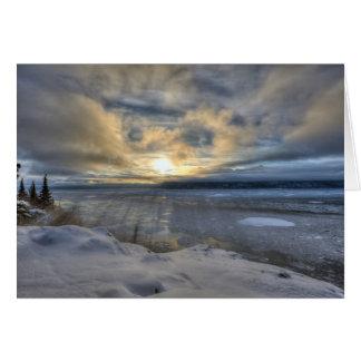 Cartão Braço de Turnagain do solstício de inverno