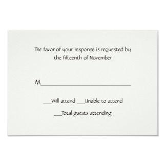 Cartão branco da resposta do inverno multifacetado convite 8.89 x 12.7cm
