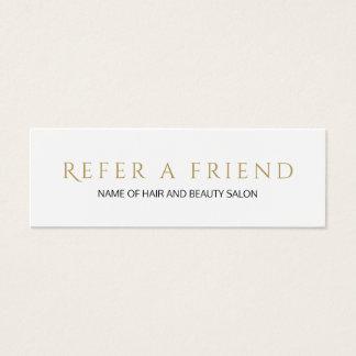 Cartão branco elegante simples da referência do