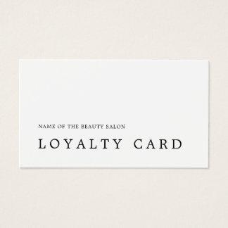 Cartão branco preto mínimo moderno da lealdade da
