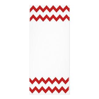 Cartão branco vermelho da cremalheira das vigas 10.16 x 22.86cm panfleto