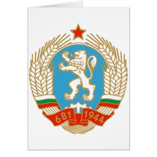 Cartão Brasão do SÉNIOR Bulgária