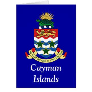 Cartão Brasão dos Cayman Islands