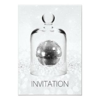 Cartão Brilho de cristal das cinzas de prata do partido