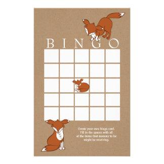 Cartão brincalhão do Bingo do chá de fraldas do