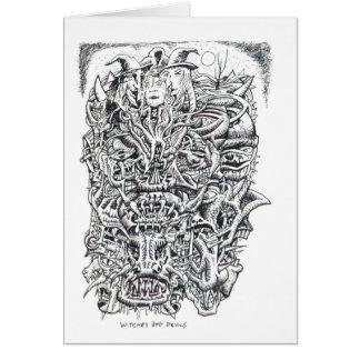 Cartão Bruxas e diabos, por Brian Benson