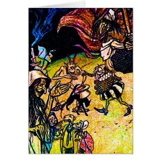Cartão Bruxas & Ghouls