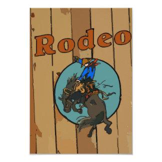 Cartão Bucking do cavalo do rodeio Convite 8.89 X 12.7cm