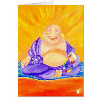Cartão Buddha - apreciando a luminosidade de ser