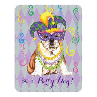 Cartão Buldogue do carnaval