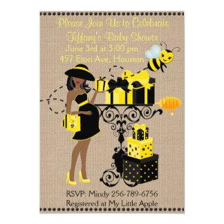 Cartão Bumble a senhora Amarelo Africano que da abelha o