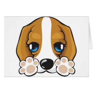 Cartão cachorrinho afável, purp, cão