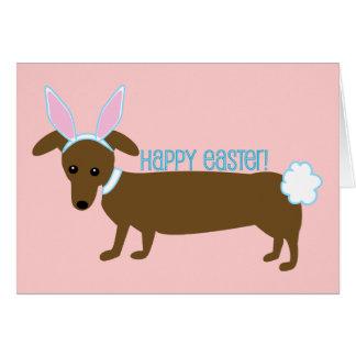 Cartão Cachorrinho da páscoa