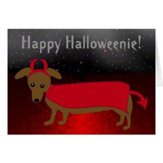 Cartão Cachorrinho do diabo