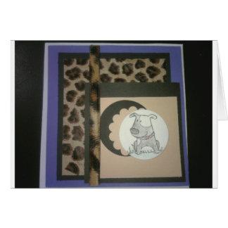 Cartão Cachorrinho do leopardo