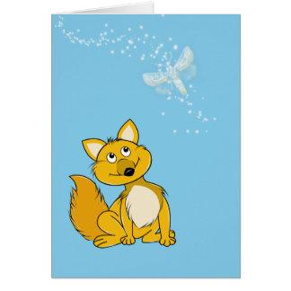 Cartão Cachorrinho feliz