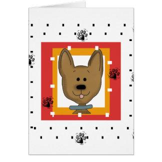Cartão Cachorrinho pequeno de Brown