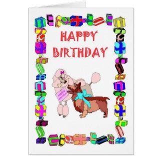 Cartão Cachorrinhos do _do feliz aniversario
