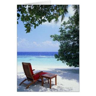 Cartão Cadeira de praia