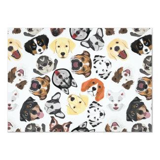 Cartão Cães do teste padrão da ilustração